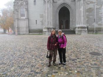 Beim Start am Konstanzer Münster mit Margarete Braun