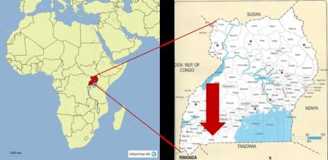 Karten Afrika - Uganda - Isingiro